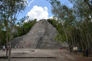 Coba, the largest Mayan pyramid in the Yucatan