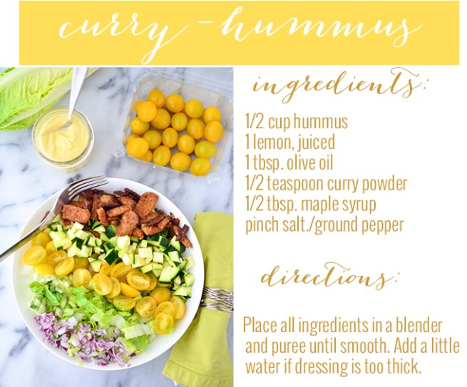 curry hummus dressing