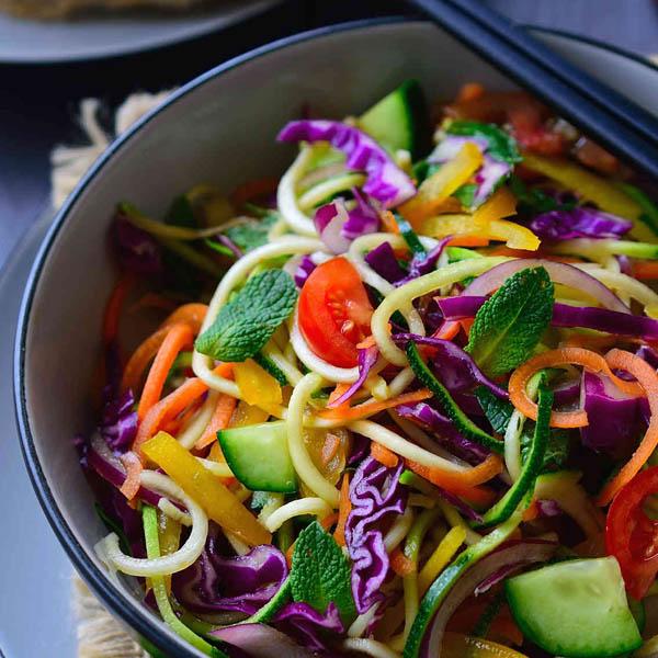 Raw Vegan Noodles Salad