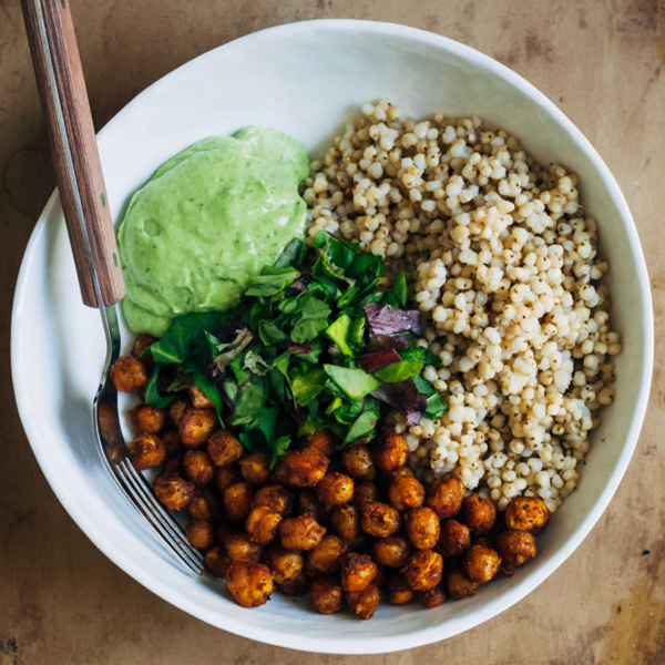 Vegan Buddha Bowl w/ Curry Chickpeas