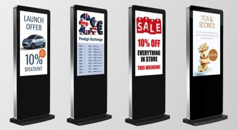 image of digital display screens by www.active4signage.co.uk on www.activevisuals.co.uk