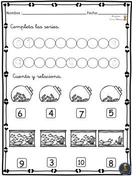 Ejercicios de Matemáticas conteo-sumas-restas Primer Ciclo ...