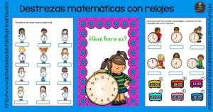 Destrezas matemáticas con relojes