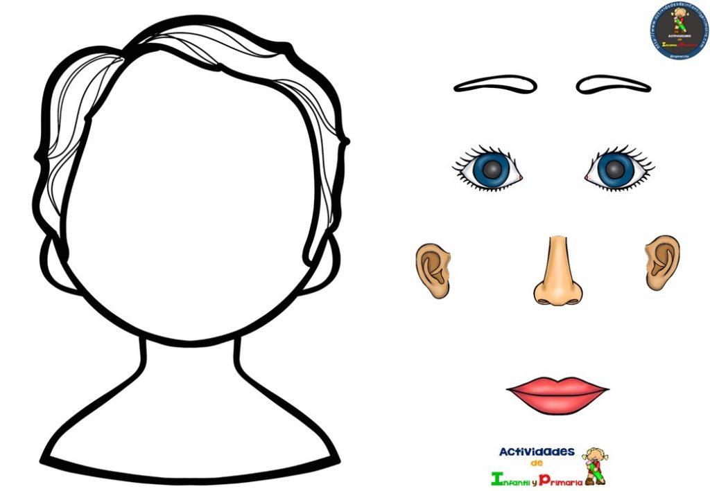 Dibujos De Aplicacio De Partes De La Cara: Aprendemos Las Partes De La Cara Jugando (4