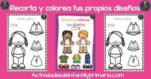 Recorta y colorea tus propios diseños