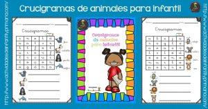 Crucigramas de animales para infantil