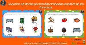 Colección de fichas para la discriminación auditiva de los fonemas