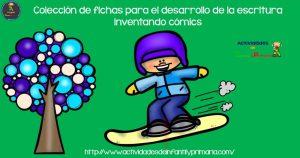 Colección de fichas para el desarrollo de la escritura creativa inventando cómics