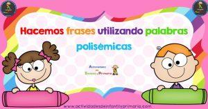Hacemos frases utilizando palabras polisémicas