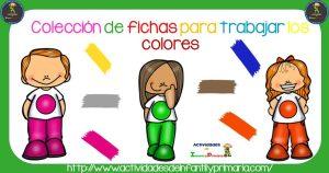 Colección de fichas para trabajar los colores