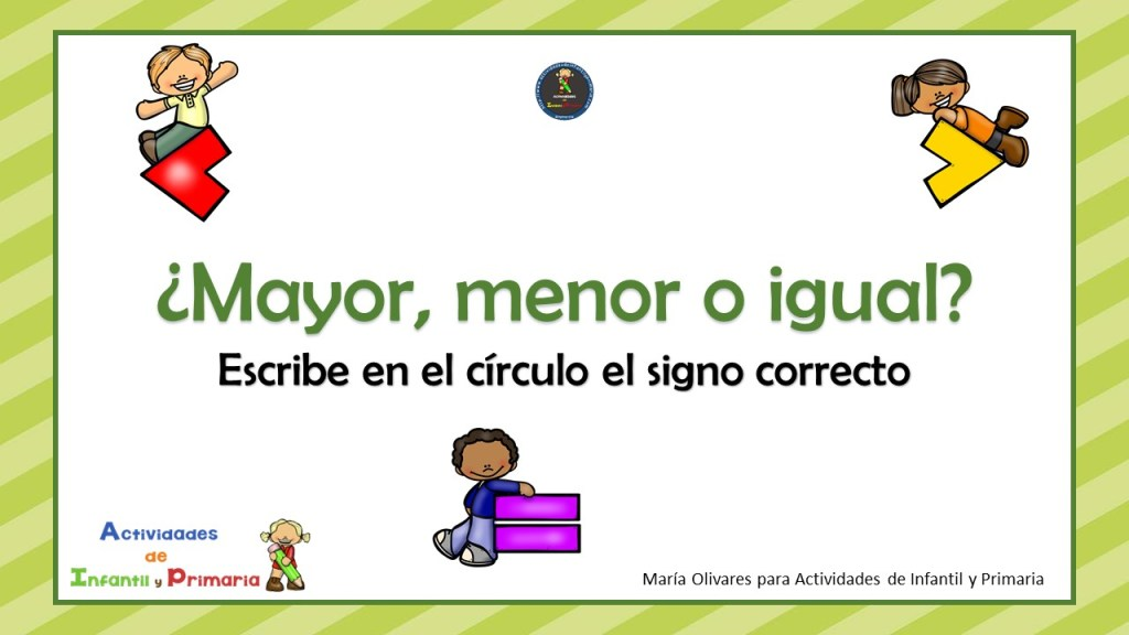 Mayor Menor O Igual Escribe En El Círculo El Signo Correcto