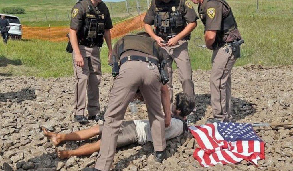 dakota protest violence