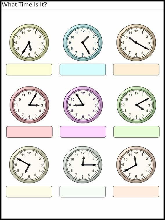 Printable Exercises For Kids What Time Is It 20