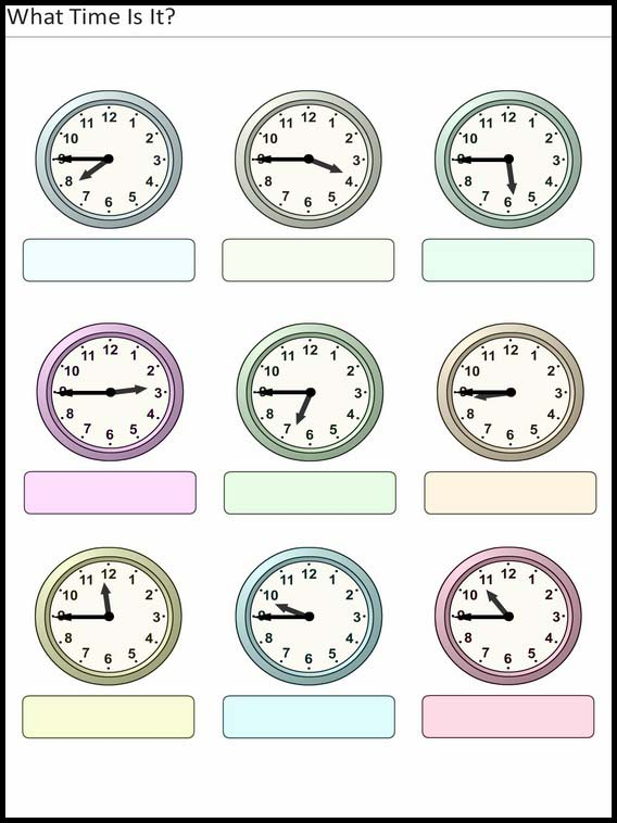 what time is it printables worksheets and activities for elementary