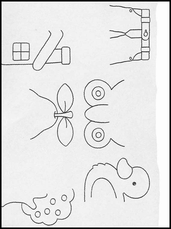 Exercises For Children Complete The Drawings 56