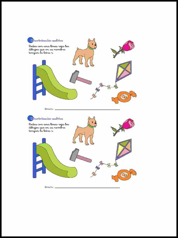 Auditory Visual Differentiation To Learn Spanish Worksheets 37