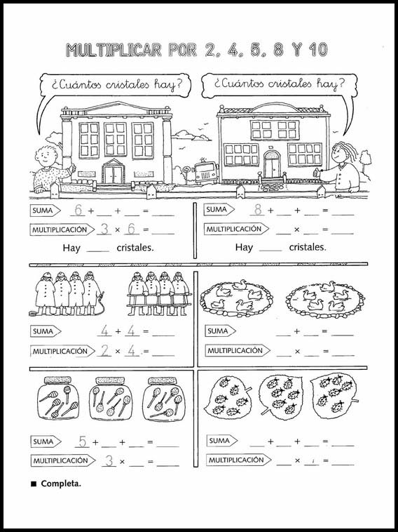 Printable Activities For Kids Multiplications Fun To Learn