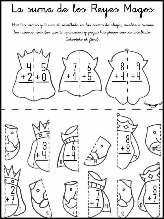 Printable Activities For Kids Addition Fun To Learn Spanish 1