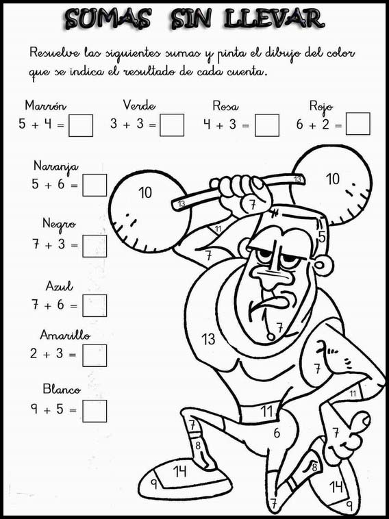 Printable Worksheets For Kids Addition Fun To Learn Spanish 2