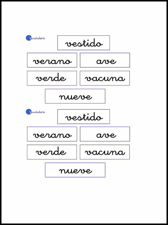 Vocabulary To Learn Spanish Worksheets For Children 23
