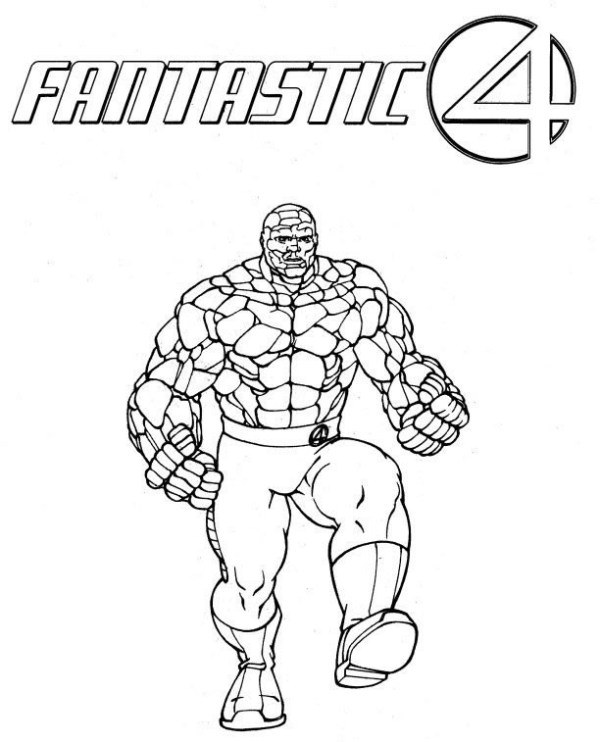 fantastic four coloring pages # 11