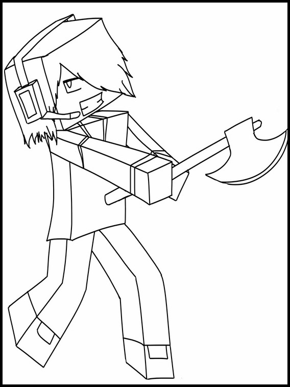 minecraft printable coloring pages # 49