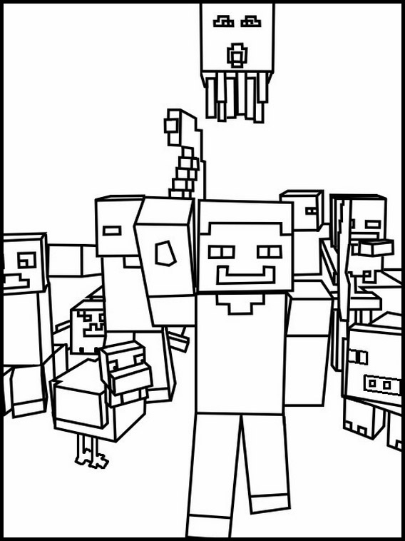 minecraft printables coloring pages # 49