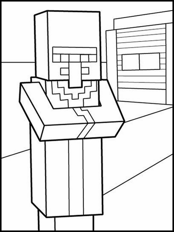 minecraft printable coloring pages # 74