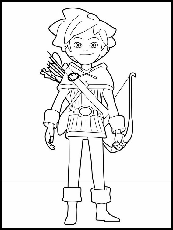 robin hood coloring pages # 8