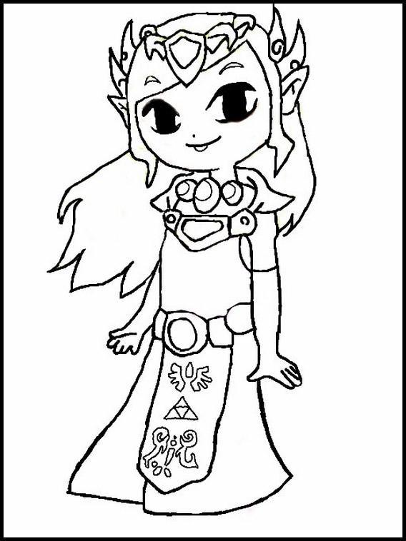 Zelda Coloring Pages 1