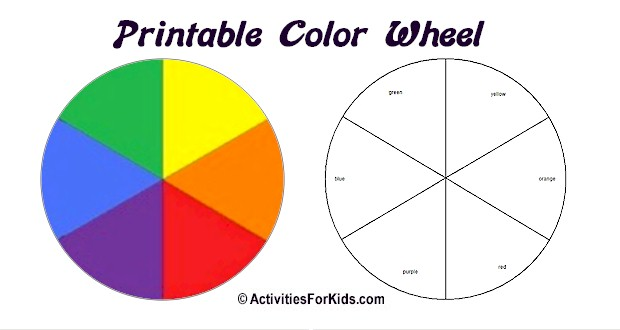printable color wheel activities for kids