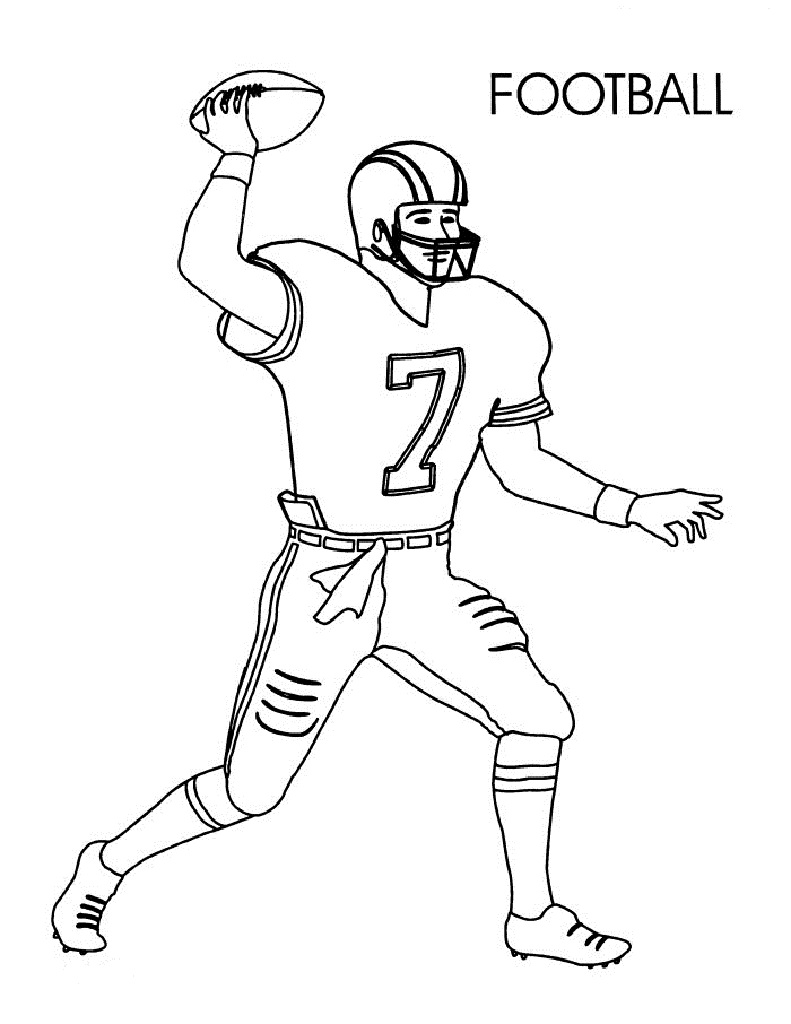 easy to make nfl coloring sheets printable football coloring pages