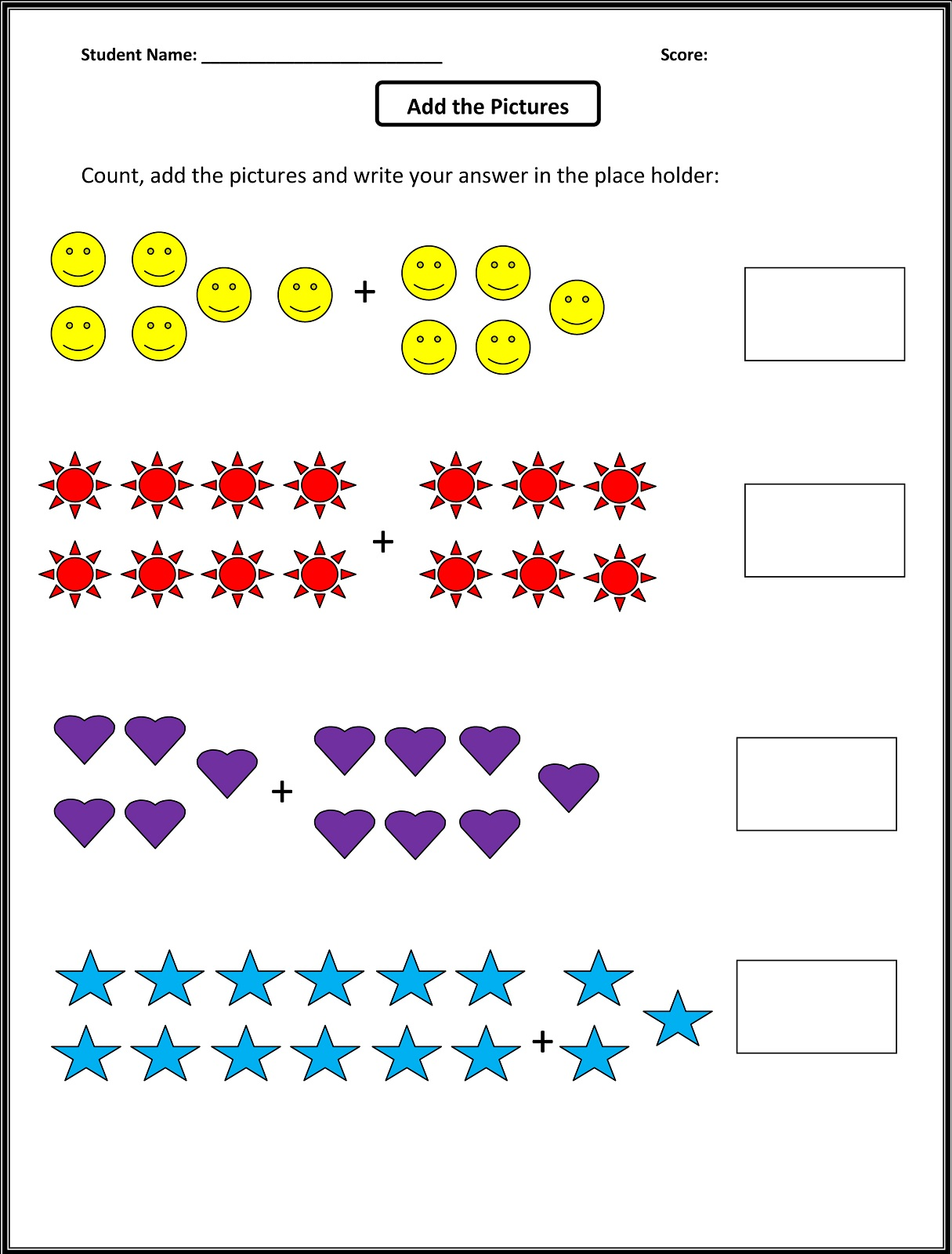 Worksheets For 1st Grade Math