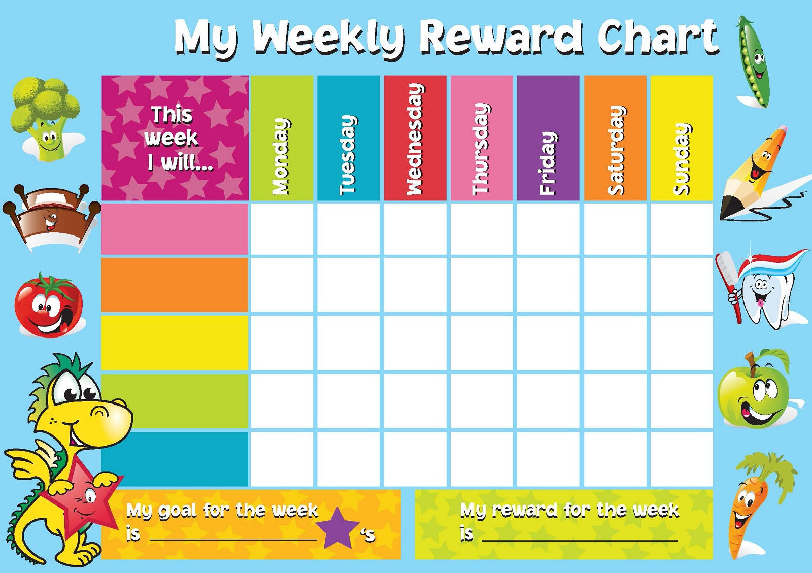 Printable Reward Chart Template