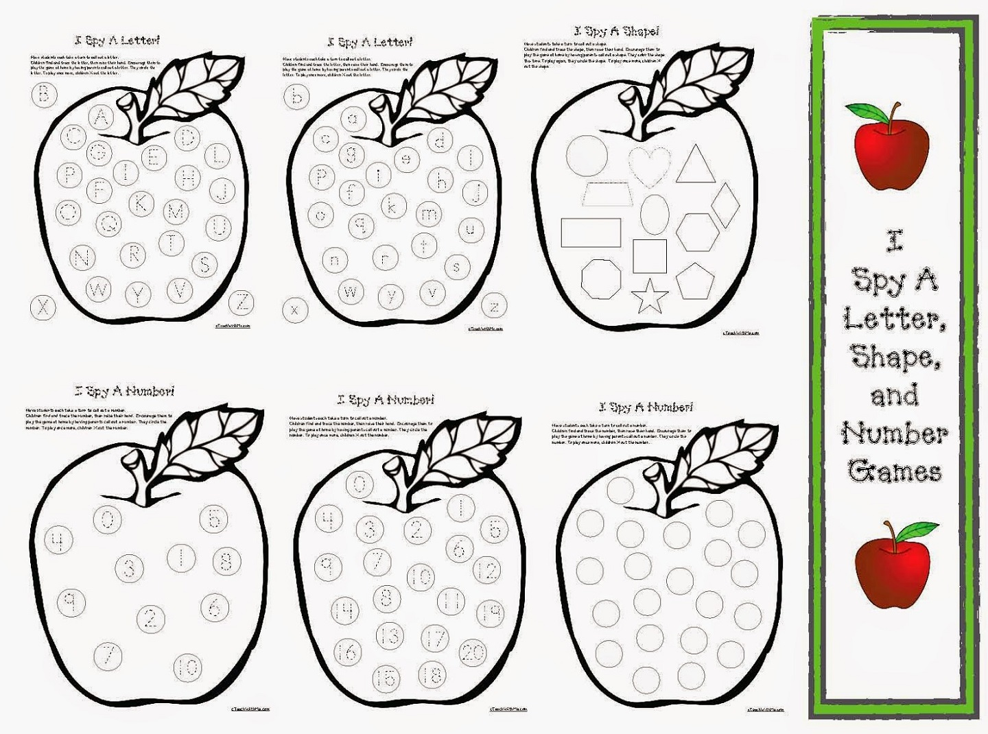 Shapes And Number Worksheets For Kids