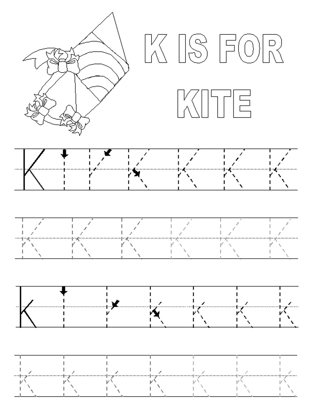 Alphabet Tracing Printables For Kids