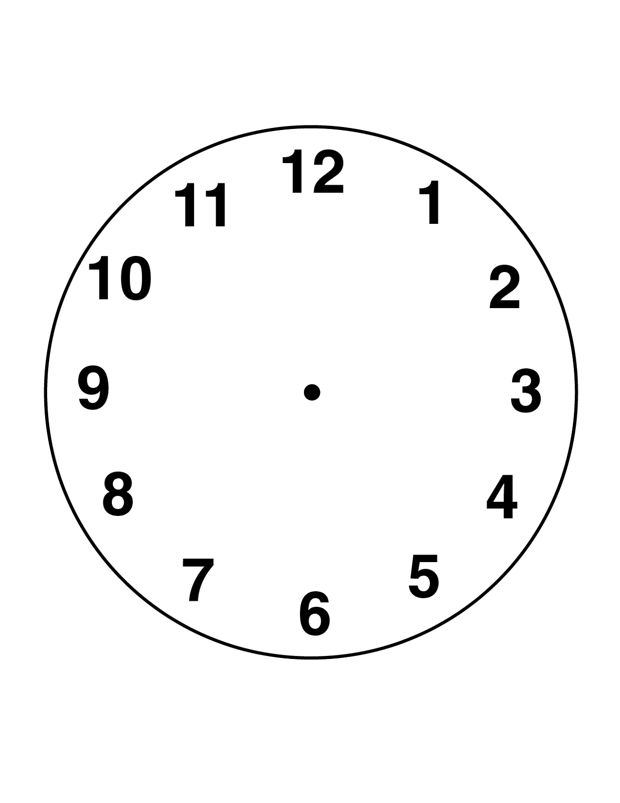 Blank Clock Faces For Exercises