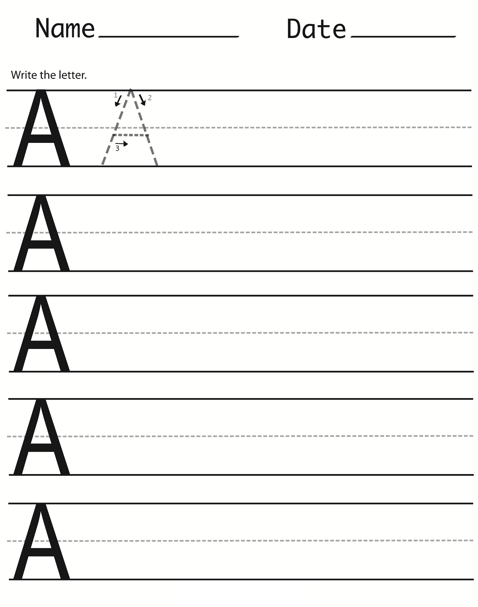 Capital Letter Worksheets Printable