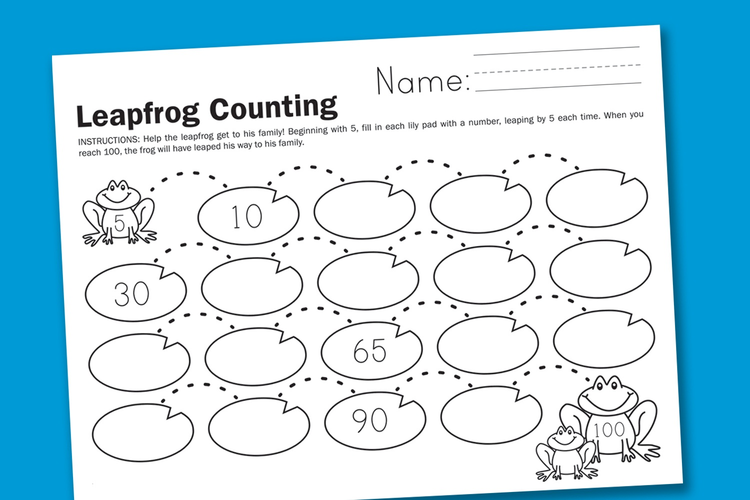 Counting Scarecrows Worksheet