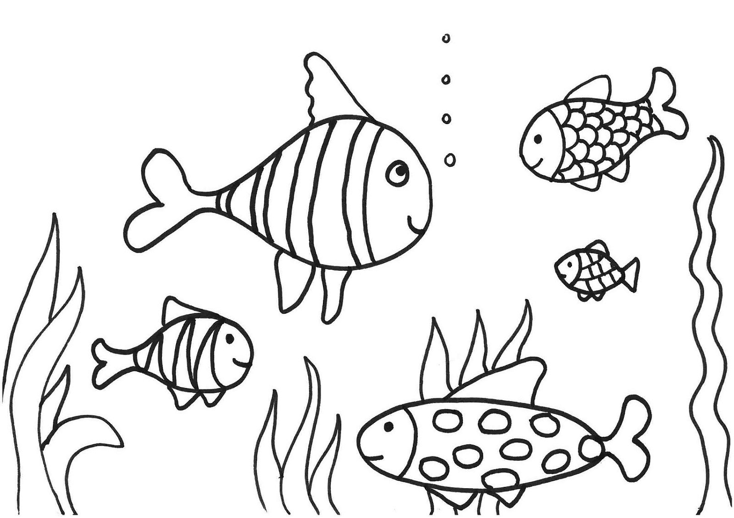 Fish Coloring Page Printable