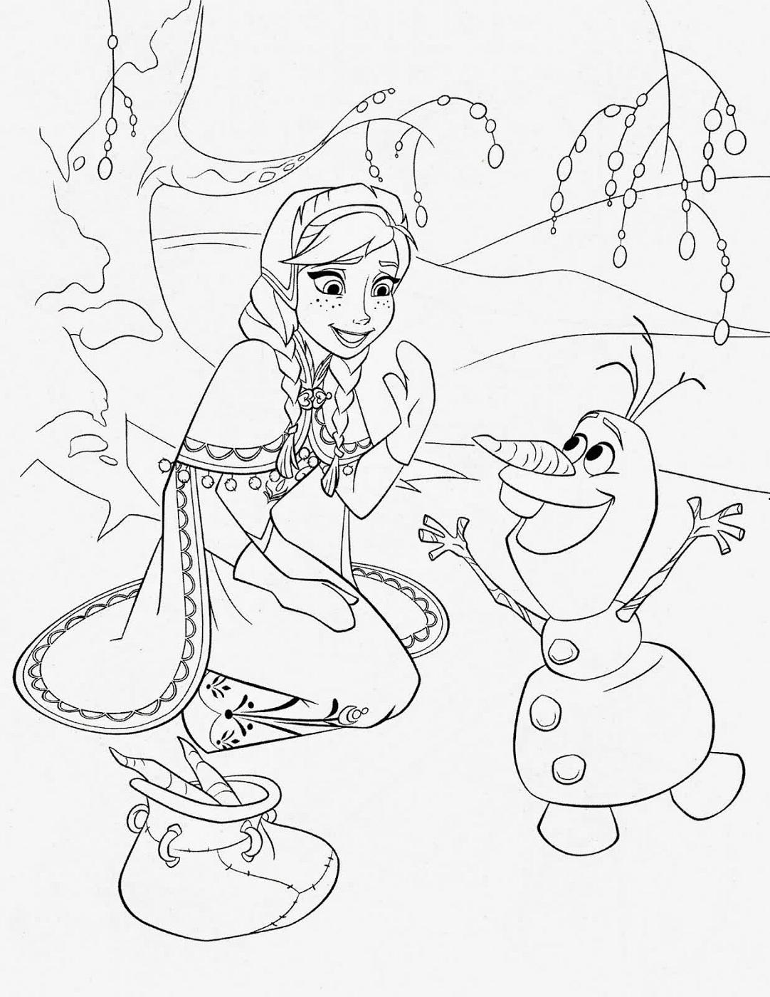 Frozen Worksheets Coloring Printable