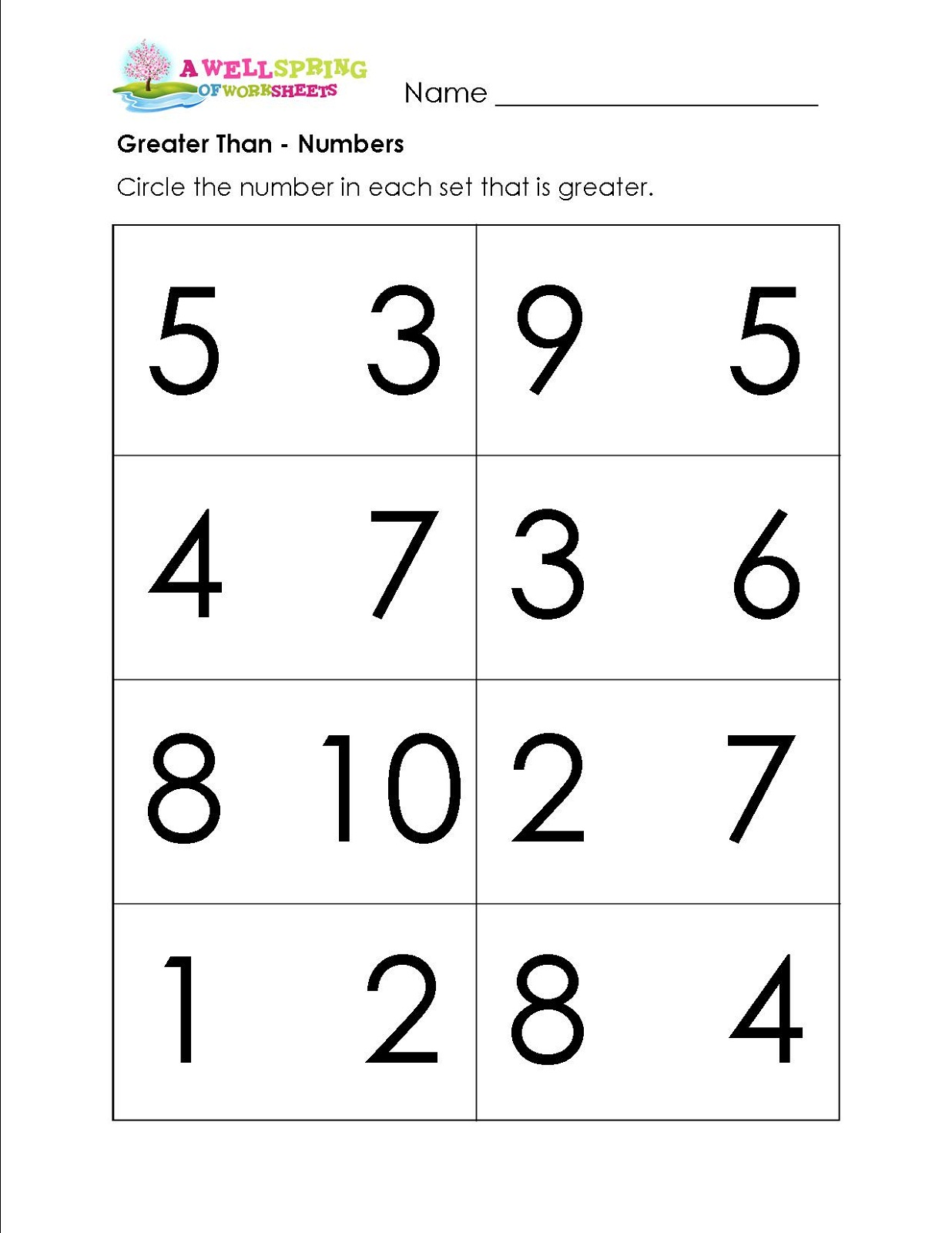 Preschool Worksheet More Or Less