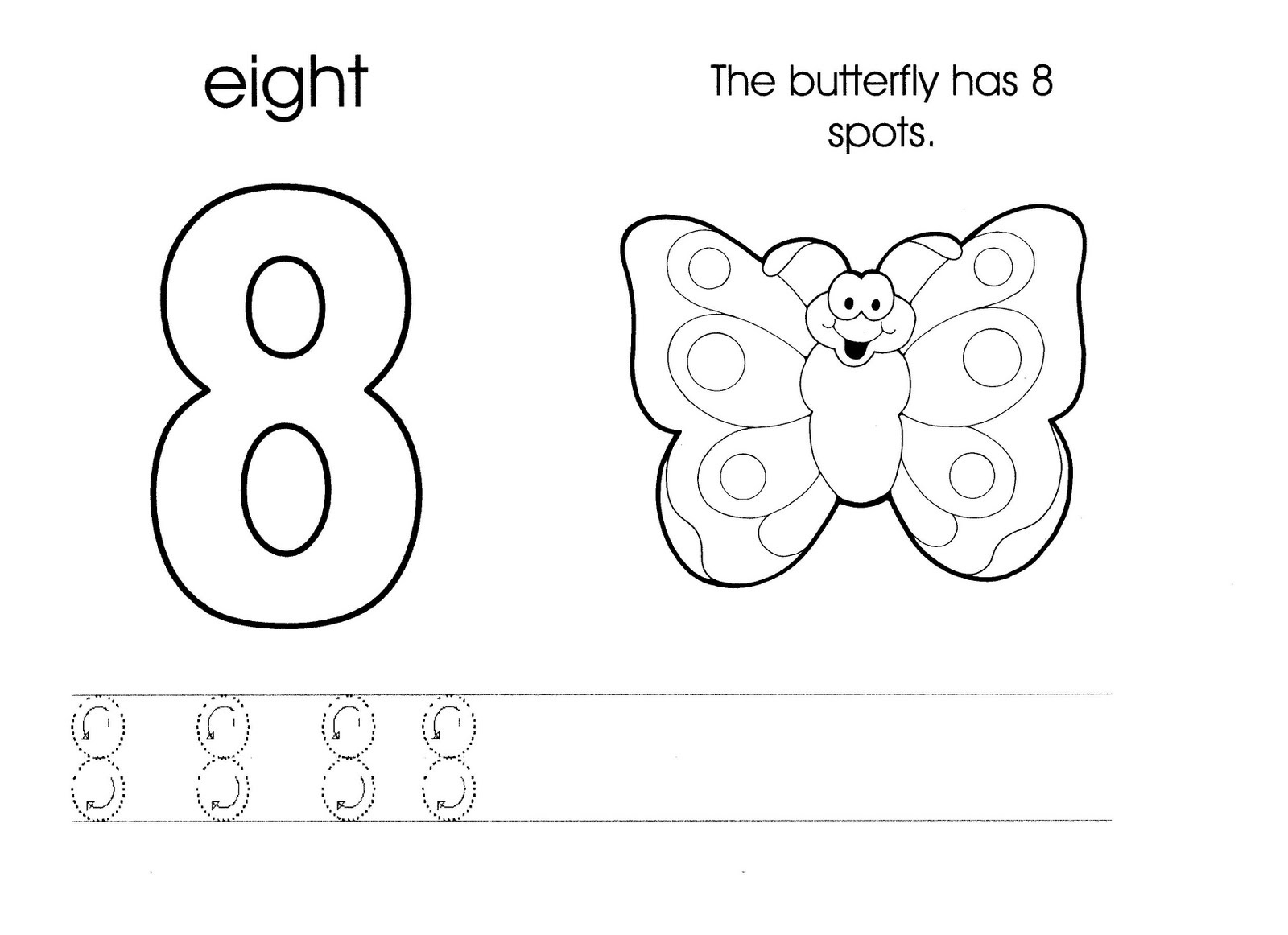 Number 8 Worksheets Printable