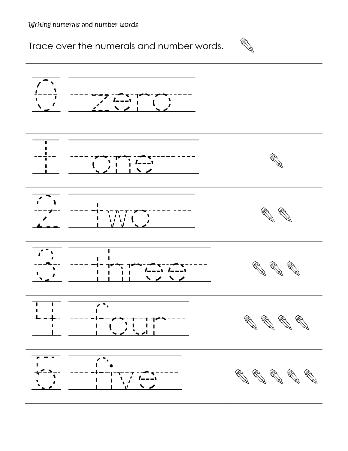 Numerals Worksheet Grade 2