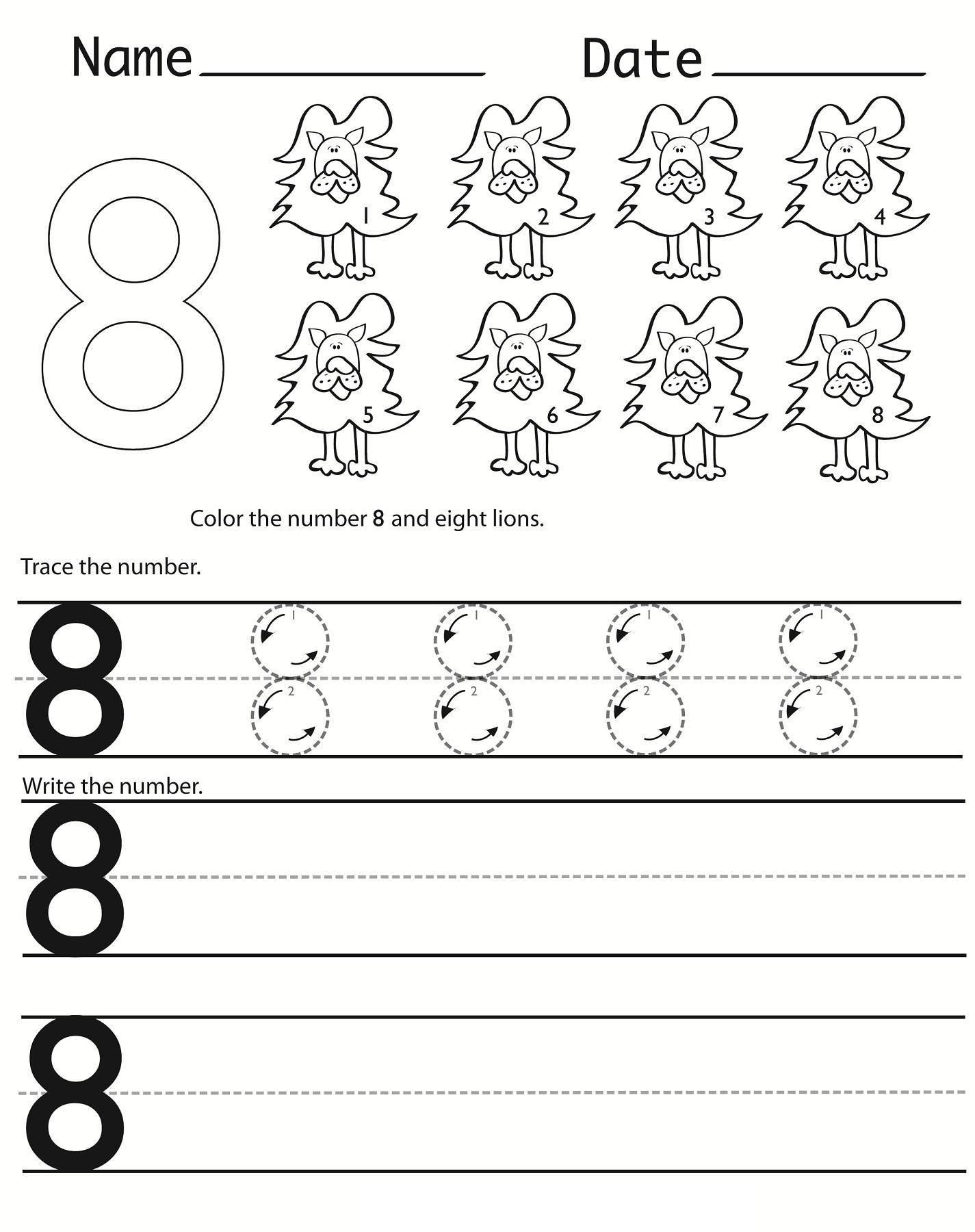 Writing Numbers Worksheets Printable