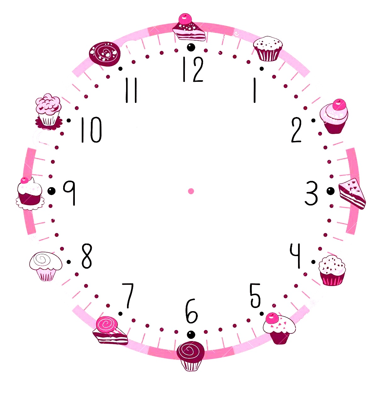 Printable Clock Template That Are Modest