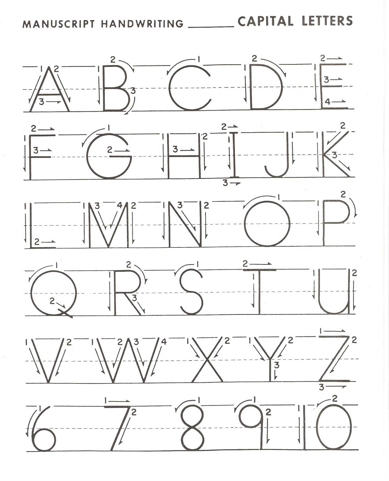 Writing Alphabet Letters For Children