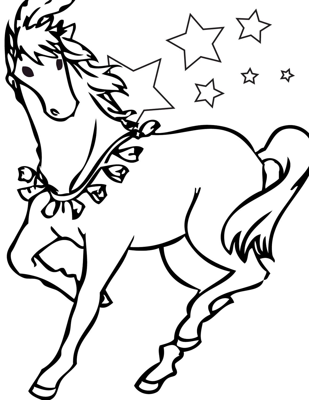 Horse Color Sheets For Children