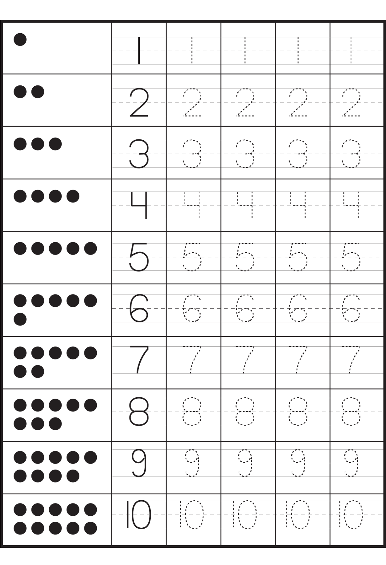 Number Worksheets For Children