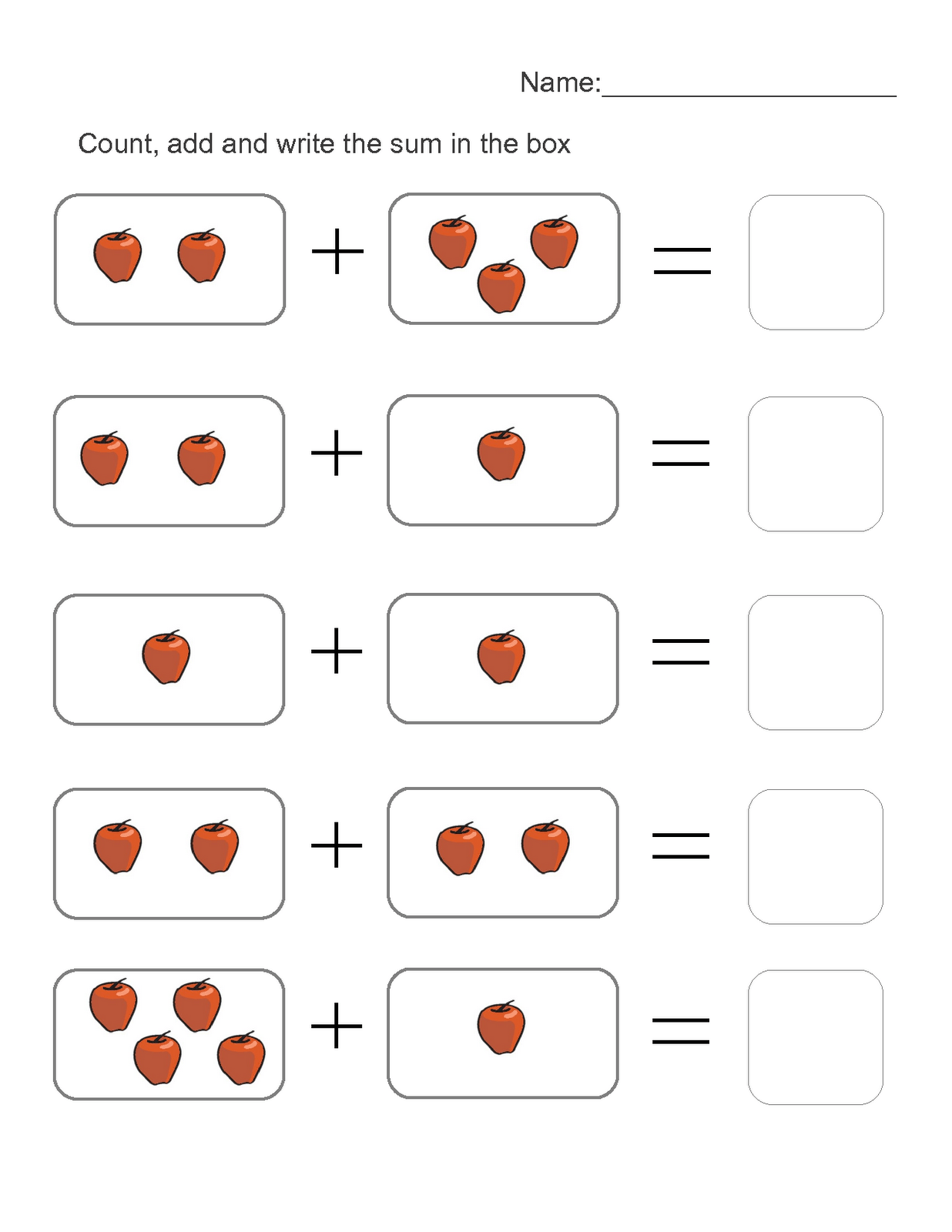 Worksheet Math K2